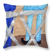Hangin Out Throw Pillow
