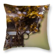 Hanging Beaded Votive Abstract 2 Throw Pillow