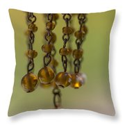Hanging Beaded Votive Abstract  3 Throw Pillow