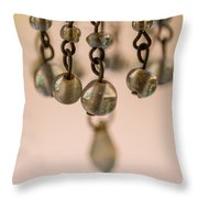 Hanging Beaded Votive Abstract 5 Throw Pillow