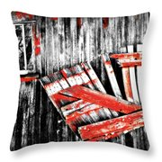 Hanging By A Few Nails Bw Throw Pillow