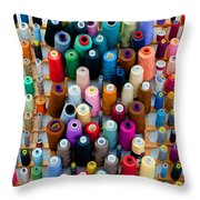 Hanging By Many Threads Throw Pillow