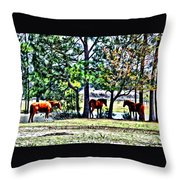 Hanging By The Pond Throw Pillow
