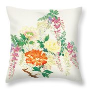 Hanging Flowers Throw Pillow