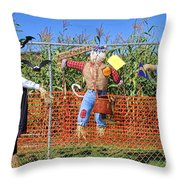 Hanging For Halloween By Diana Sainz Throw Pillow