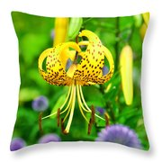 Hanging Lily Throw Pillow