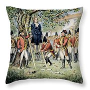 Hanging Of Nathan Hale Throw Pillow
