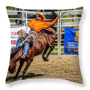 Hanging On For 8 Seconds Throw Pillow