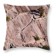 Hanging On To Dear Life - Enchanted Rock State Natural Area - Fredericksburg  Llano Throw Pillow