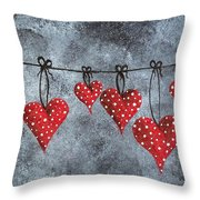 Hanging On To Love Throw Pillow