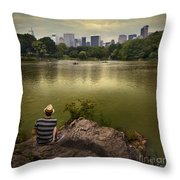 Hanging Out In Central Park Throw Pillow