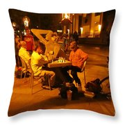 Hanging Out On 116th Street Throw Pillow