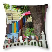 Hanging Out To Dry Throw Pillow