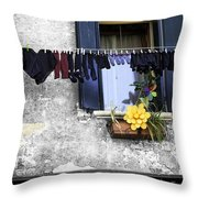 Hanging Out To Dry In Venice 2 Throw Pillow
