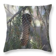 Hanging Pine Cone Throw Pillow