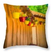Hanging Pots - Watercolor Throw Pillow
