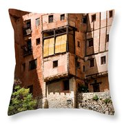 Hanging Red Houses Throw Pillow