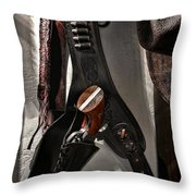 Hanging Revolver Throw Pillow