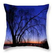 Hanging Tree Sunrise Throw Pillow