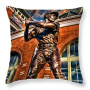 Hank Aaron In Hdr Throw Pillow