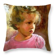 Hannah Throw Pillow by Douglas Simonson
