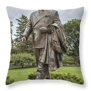 Hannah Statue At Msu Throw Pillow