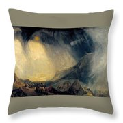 Hannibal And His Army Crossing The Alps Throw Pillow