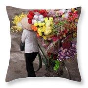 Hanoi Flowers 01 Throw Pillow