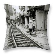 Hanoi Lifestyle Throw Pillow