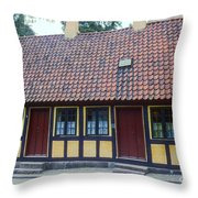 Hans Christian Anderson Childhood Home Throw Pillow