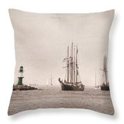 Hanse Sail Throw Pillow