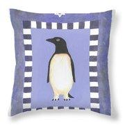 Hanukka Penguin Three Throw Pillow