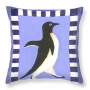 Hanukkah Penguin Two Throw Pillow
