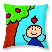 Happi Arti 6 - Sir Isaac Newton Art  Throw Pillow