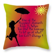 Happiest Moments Throw Pillow