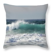 Happily At Sea Throw Pillow