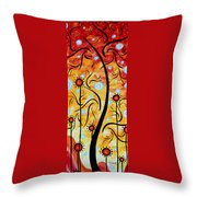 Happiness By Madart Throw Pillow