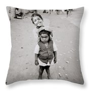 Happiness In India Throw Pillow