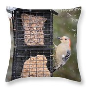 Happiness Is Hanging Out With Friends Throw Pillow