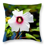 Happiness Shared Is The Flower Throw Pillow