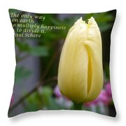Happiness Tulip Throw Pillow