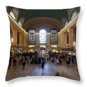 Happy 100th Birthday Grand Central Terminal Throw Pillow