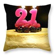 Happy 21st Birthday Throw Pillow