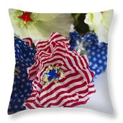 Happy 4th Of July America Throw Pillow