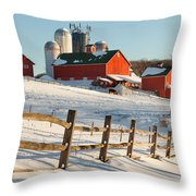 Happy Acres Farm Throw Pillow by Bill Wakeley