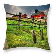 Happy Acres Farm Throw Pillow