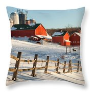 Happy Acres Farm Square Throw Pillow by Bill Wakeley