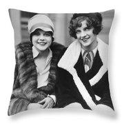 Happy Actresses Throw Pillow