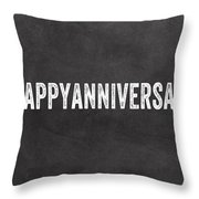 Happy Anniversary- Greeting Card Throw Pillow by Linda Woods