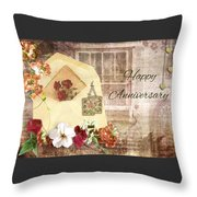 Happy Anniversary Mom And Dad Throw Pillow